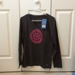 NWT Life is Good Long Sleeved Tee